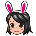 Woman With Bunny Ears, Type-3 on emojidex 1.0.34