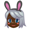 Woman With Bunny Ears, Type-6 on emojidex 1.0.34