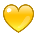 Yellow Heart on emojidex 1.0.34