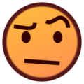 Face With Raised Eyebrow on emojidex 1.0.22