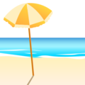 Beach With Umbrella on emojidex 1.0.24