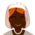 Bride With Veil: Dark Skin Tone on emojidex 1.0.24