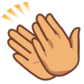 Clapping Hands: Medium Skin Tone on emojidex 1.0.24
