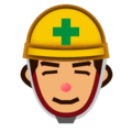 Construction Worker: Medium Skin Tone on emojidex 1.0.24