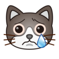 Crying Cat Face on emojidex 1.0.24