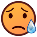 Disappointed but Relieved Face on emojidex 1.0.24