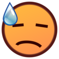 Face With Cold Sweat on emojidex 1.0.24