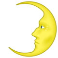 First Quarter Moon With Face on emojidex 1.0.24