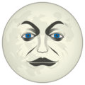 Full Moon With Face on emojidex 1.0.24
