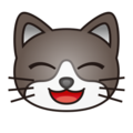 Grinning Cat Face With Smiling Eyes on emojidex 1.0.24