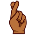 Crossed Fingers: Medium-Dark Skin Tone on emojidex 1.0.24