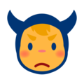 Angry Face With Horns on emojidex 1.0.24