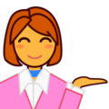 Person Tipping Hand on emojidex 1.0.24