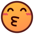Kissing Face With Smiling Eyes on emojidex 1.0.24