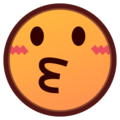 Kissing Face on emojidex 1.0.24