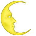 Last Quarter Moon With Face on emojidex 1.0.24