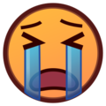 Loudly Crying Face on emojidex 1.0.24