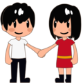 Man and Woman Holding Hands, Type-3 on emojidex 1.0.24