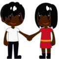 Man and Woman Holding Hands, Type-6 on emojidex 1.0.24