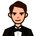 Man in Tuxedo: Medium-Light Skin Tone on emojidex 1.0.24