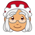 Mrs. Claus: Medium Skin Tone on emojidex 1.0.24