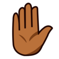 Raised Hand: Medium-Dark Skin Tone on emojidex 1.0.24