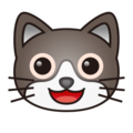 Smiling Cat Face With Open Mouth on emojidex 1.0.24