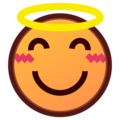 Smiling Face With Halo on emojidex 1.0.24
