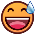 Smiling Face With Open Mouth & Cold Sweat on emojidex 1.0.24