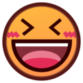 Smiling Face With Open Mouth & Closed Eyes on emojidex 1.0.24
