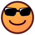 Smiling Face With Sunglasses on emojidex 1.0.24