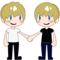 Two Men Holding Hands, Type-1-2 on emojidex 1.0.24