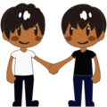 Two Men Holding Hands, Type-5 on emojidex 1.0.24