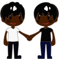 Two Men Holding Hands, Type-6 on emojidex 1.0.24