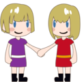 Two Women Holding Hands, Type-1-2 on emojidex 1.0.24