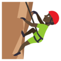 Man Climbing: Dark Skin Tone on EmojiOne 3.1