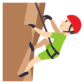 Man Climbing: Light Skin Tone on EmojiOne 3.1