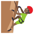 Man Climbing: Medium-Dark Skin Tone on EmojiOne 3.1