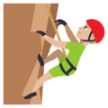 Man Climbing: Medium-Light Skin Tone on EmojiOne 3.1