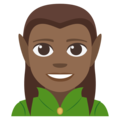 Man Elf: Medium-Dark Skin Tone on EmojiOne 3.1