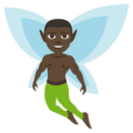 Man Fairy: Dark Skin Tone on EmojiOne 3.1