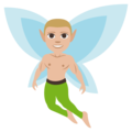Man Fairy: Medium-Light Skin Tone on EmojiOne 3.1