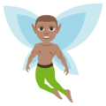 Man Fairy: Medium Skin Tone on EmojiOne 3.1