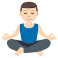 Man in Lotus Position: Light Skin Tone on EmojiOne 3.1