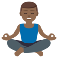 Man in Lotus Position: Medium-Dark Skin Tone on EmojiOne 3.1
