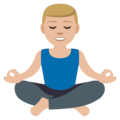 Man in Lotus Position: Medium-Light Skin Tone on EmojiOne 3.1