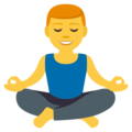 Man in Lotus Position on EmojiOne 3.1