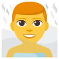 Man in Steamy Room on EmojiOne 3.1