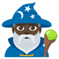 Man Mage: Dark Skin Tone on EmojiOne 3.1