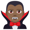 Man Vampire: Medium-Dark Skin Tone on EmojiOne 3.1